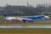 G-RJXO @ EGCC - BMI EmbraerJet arrives Manchester UK
