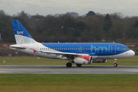 G-DBCK @ EGCC - BMI A319 on the roll at Manchester (UK)