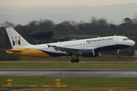 G-OZBK @ EGCC - Monarch A320 takes off from Manchester