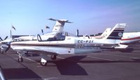 CC-PZF @ EDDV - ENAER T-35 Pillan at the Internationale Luftfahrtausstellung ILA Hannover 1988 - by Ingo Warnecke