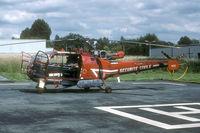 F-ZBDQ @ LFQQ - The Alouette III was at watch at the apron of the Securité Civile at Lille Lesquin.