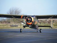 G-BWLR @ EGBT - Broussard arriving at Turweston - by Simon Palmer