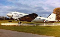 KP208 - RAF DAKOTA on display at Aldershot Barracks - by moxy