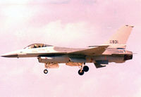 82-0931 @ NFW - USAF F-16A landing at Carswell AFB - by Zane Adams