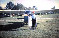 CF-JXM @ CPJ5 - Hadley and Marion Richardson at Stirling (Oak Hills Flying Club) Stirling Airport, Ontario Canada - by Unknown - from my family slide collection