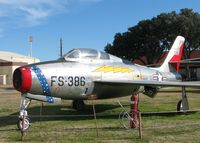 51-1386 @ BAD - F-84F Thunderstreak on display at the 8th Air Force Museum at Barksdale Air Force Base, Louisiana. - by paulp
