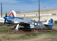 44-14570 @ BAD - P-51D on display at the 8th Air Force Museum at Barksdale Air Force Base, Louisiana. The sign reads a different number than what is on the tail of the aircraft. - by paulp
