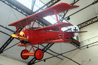 425-17 @ BRUSSEL - Replica of the Red Baron Fokker DR.1 in the Legermuseum in Brussels. - by Joop de Groot