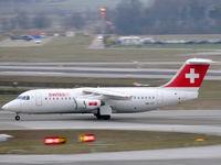 HB-IYT @ LSZH - British Aerospace BAe146-300/RJ100 HB-IYT Swiss - by Alex Smit