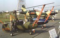 G-VIEW @ EGLF - Wallis WA-116 Vinten Wallis at Farnborough International 1982