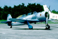OO-YAK @ LFSC - Ex Egypt AF and now sold as F-AZYA. Displaying the Normandie-Niemen colours in the Soviet AF.