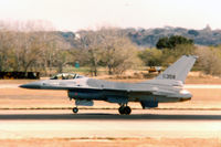 79-0358 @ NFW - USAF F-16A landing at Carswell AFB - by Zane Adams