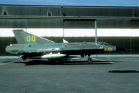 35528 @ ESGP - Although wearing a F9 code this Draken last flew with F10. Now preserved in the Göteborg-Säve museum. - by Joop de Groot