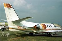 N505RJ @ RDG - In 1977 this was the Cessna Aircraft Company demonstrator Citation 1/SP at the 1977 Reading Airshow. - by Peter Nicholson
