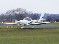 G-DCHO @ EGCV - taxiing on to the apron at Sleap - by chris hall