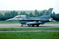 78-0099 @ EHLW - During 1980 the nations that received the new F-16 tested the aircraft in different areas. After the tests at Hill AFB had ended all aircraft were flown to Leeuwarden. This brought some brand new USAF F-16's to Europe. Now at AMARC. - by Joop de Groot
