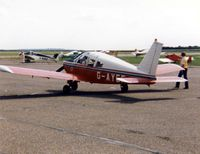 G-AYEF @ EGTC - PA-28 Cherokee 180 G-AYEF in the colours of The College of Air Training at Hamble attending the 1983 PFA Rally at Cranfield - by GeoffW