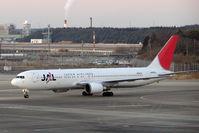 JA605J @ RJAA - JAL B767 taxies in at Narita