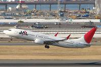 JA314J @ RJTT - JAL B737 lifts off from Haneda - by Terry Fletcher