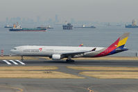 HL7754 @ RJTT - Asiana Airbus A330 about to lift off from Haneda