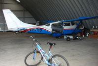 VH-TIB @ YCUD - Cessna U206F at Caloundra
