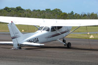VH-LGA @ YCUD - This Cessna 172R sits on its tail at Caloundra - by Terry Fletcher
