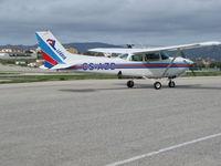 CS-AZD @ LPCS - Cessna 172 rg at Tires, Cascais,Potugal - by ze_mikex