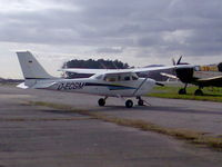 D-ECGM @ LPBR - Cessna 172 with diesel engine. Sory about the quality, but i took this foto with my cellphone. - by ze_mikex