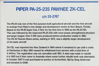 ZK-CEL - At the Queensland Air Museum, Caloundra, Australia - Piper Pawnee - potted history