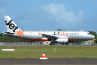 VH-VQB @ YBMC - Marks formerly worn on a Boeing 717 - now worn on a new A320 operated by Jetstar - seen on its second day of operation at Maroochydore