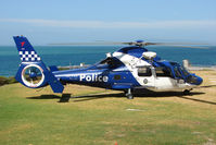 VH-PVH - Essendon based Police Eurocopter on training exercise - using Southern Peninsula rescue Helipad at Sorrento as its base for the day