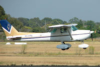 VH-UPB @ YMMB - Cessna 150M about to touch down at Moorabbin
