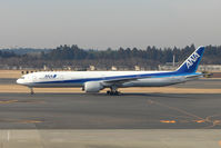 JA782A @ RJAA - ANA B777 arrives Narita