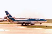 N303FE @ DFW - Seen as Air Florida DC-10 at DFW Airport. This aircraft currently flies for FedEx