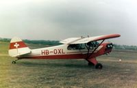 HB-OXL @ EGBG - Piper JC3-65 Cub HB-OXL at the Leicester PFA Rally 1979 - by GeoffW