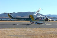 C-GGAT @ YCBG - Canadian Bell 212 far from home in Tasmania Australia on firefighting service