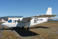 VH-CWG @ YCBG - Islander used for aerial photography from Hobart Cambridge