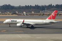 N548US @ RJAA - NW B757 at Narita