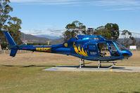 VH-RLC @ YMHB - Rescue Eurocopter AS355F1 at Hobart Helipad
