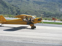 N1592N @ SZP - 1947 Piper J3C-65 CUB, Continental A&C65 65 Hp, taxi after landing Rwy 22 - by Doug Robertson