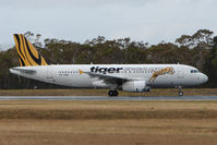 VH-VNB @ YMHB - Tiger Airways  A320 prepares to depart from Hobart Int