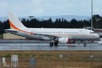 VH-VHD @ YMHB - Corporate A319 based at Hobart Int for flights to the Antartic