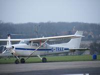 G-TRAX @ EGSF - Cessna F172 at Conington - by Simon Palmer