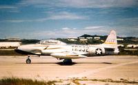 49-992 @ ROAH - T-33A (TF-80C) Shooting Star of the 26th FIS at NAHA AFB Okinawa 1952 - by Zane Adams