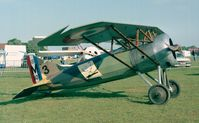 F-AZAP @ LFFQ - Morane-Saulnier MS. A1 replica at the Meeting Aerien La-Ferte-Alais, Cerny 1997