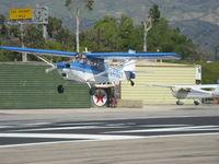 N4182Y @ SZP - 1977 Bellanca 7KCAB CITABRIA, Lycoming AEIO-360 180 Hp, another landing Rwy 22 - by Doug Robertson