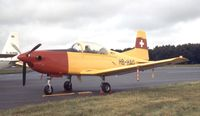 HB-HAO @ EGLF - Pilatus PC-7 Turbo Trainer at Farnborough International 1980
