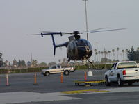 N108PP @ POC - Lifting off of transporter, ready to take flight - by Helicopterfriend