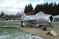 413 - at Hermeskeil Museum, Germany MiG-17F - by Volker Hilpert