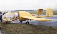 G-BGMW @ EGLF - Edgley EA7 Optica at Farnborough International 1980